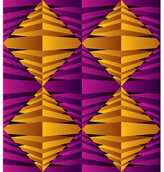 3d abstract rhombus surface seamless pattern vector
