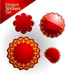 elegant stickers and seals vector image