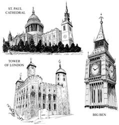 London architectural symbols vector