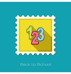 123 blocks flat stamp vector