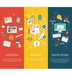 Designer Banner Set vector image