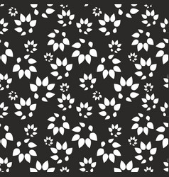 abstract black background with stylized leaves vector image vector image