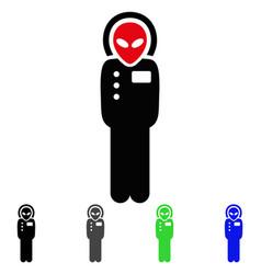 Alien visitor skafandr flat icon vector