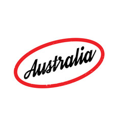 Australia rubber stamp vector