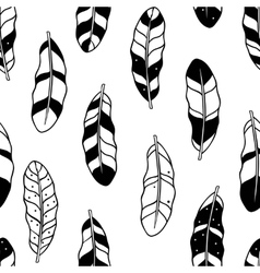 Aztec feathers seamless pattern tribal ornament vector