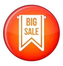 Big sale banner icon flat style vector