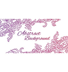 Black lace design Old lace background ornamental vector image vector image