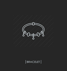 Bracelets with charms outline icon isolated vector