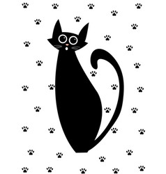 cat set cartoon vector image vector image