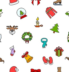 Christmas pattern on white vector image vector image