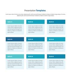 Column design and presentation templates vector