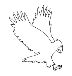Eagle line icon vector
