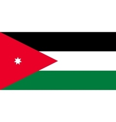 Flag of Jordan in correct proportions and colors vector image vector image