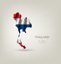 Flag of Thailand as a country vector image