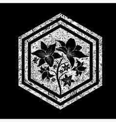 Floral logo 10 grunge vector