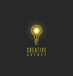 Light bulb logo lamp shine creative innovation vector