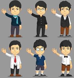 Man Cartoon Character Set vector image vector image