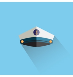 Sailor cap flat icon vector image vector image