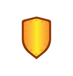 Sign shield gold 1205 vector