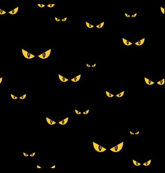 Spooky monster eyes in the dark halloween seamless vector