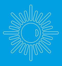 Sun icon outline style vector