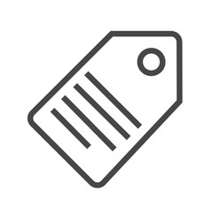 tag thin line icon vector image vector image