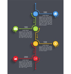 Timeline infographics design vector