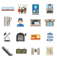 Underground icons set vector
