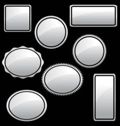 white-silver-stickers vector image vector image