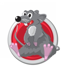 Rat orient horoscope sign isolated in circle vector