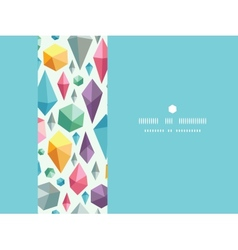Hanging geometric shapes horizontal decor seamless vector