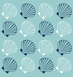 Seashell pattern marine conch repeating vector