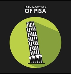 Ltower of pisa vector