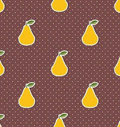 Pear pattern seamless texture with ripe pears vector