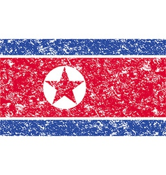 Flag of north korea with old texture vector