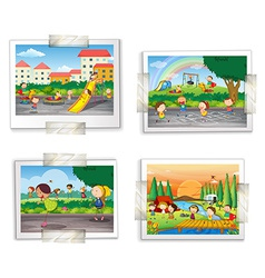 Playground photos vector