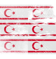 Flag of turkish northern cyprus with old texture vector