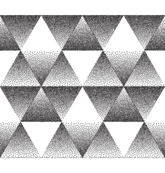 Dotted triangular texture vector