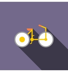 Bike icon in flat style vector