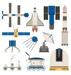 Space ship transport set vector image