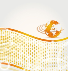 Abstract company card with Earth planet vector image