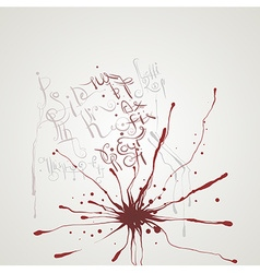 Abstract splash background with writing vector
