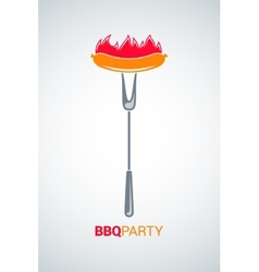 Barbecue grill party menu background vector