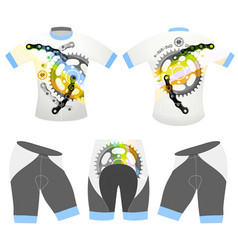 Bicycle sports t-shirt vector