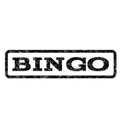Bingo watermark stamp vector