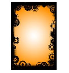 Black Border with Circles 5 vector image