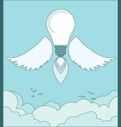 Bright idea light bulb concept vector