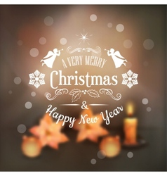 Christmas typography blurred background vector