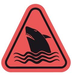 Danger shark zone vector