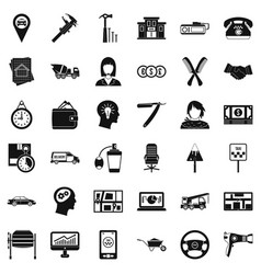 Delivery work icons set simple style vector